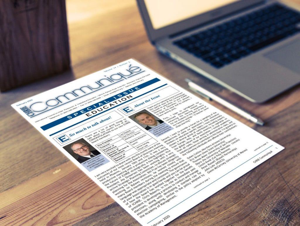 Communique Special Edition on a desk