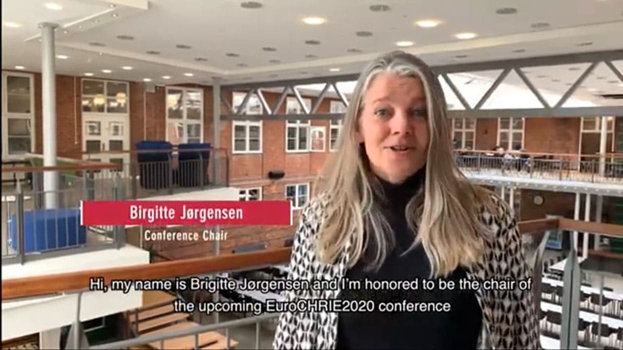 VIDEO: Birgitte Jørgensen welcomes you to EuroCHRIE 2020 21