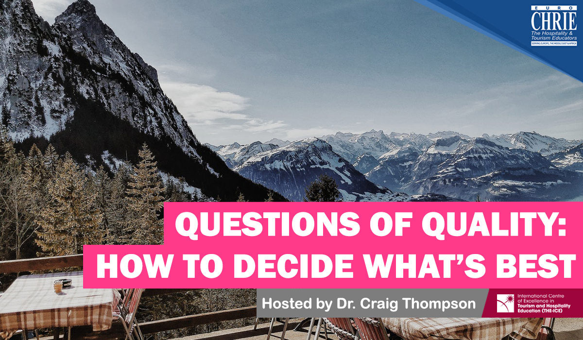 Questions of Quality: How to decide what is best for your programmes & institution 25