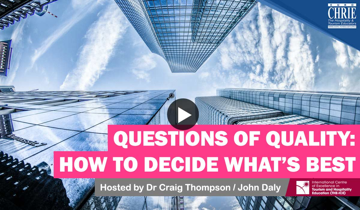 WATCH: Questions of Quality - How to decide what is best... 17