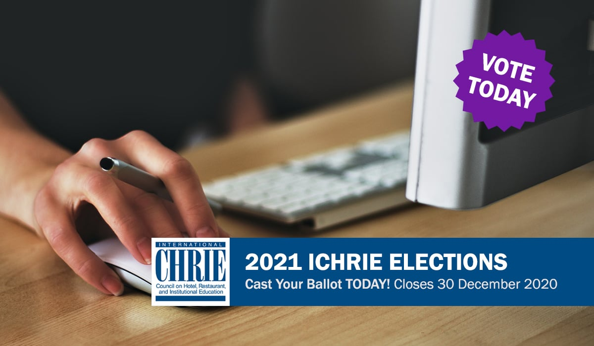 Cast Your Ballot in the 2021 ICHRIE Election - Deadline 30 December 40