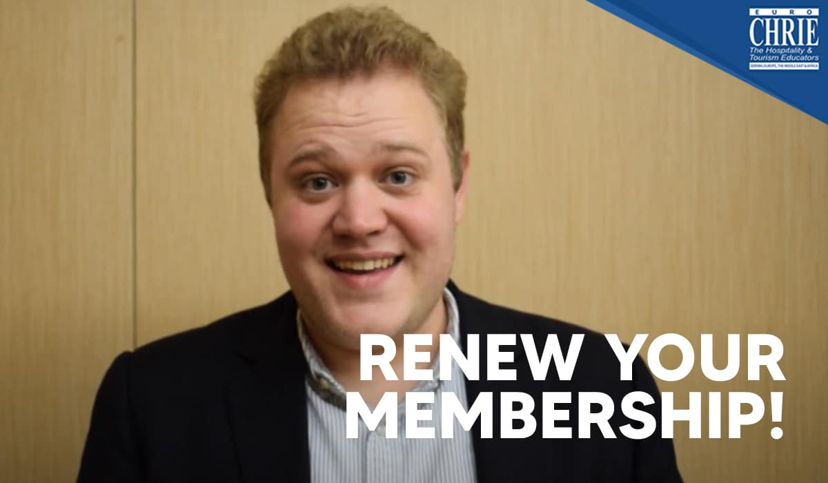 It's time to RENEW your Membership with EuroCHRIE for 2021 36