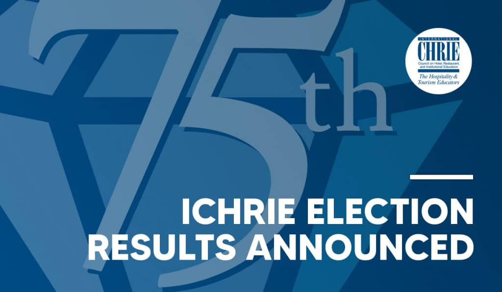 Newly Elected Board Members of International CHRIE Announced 37