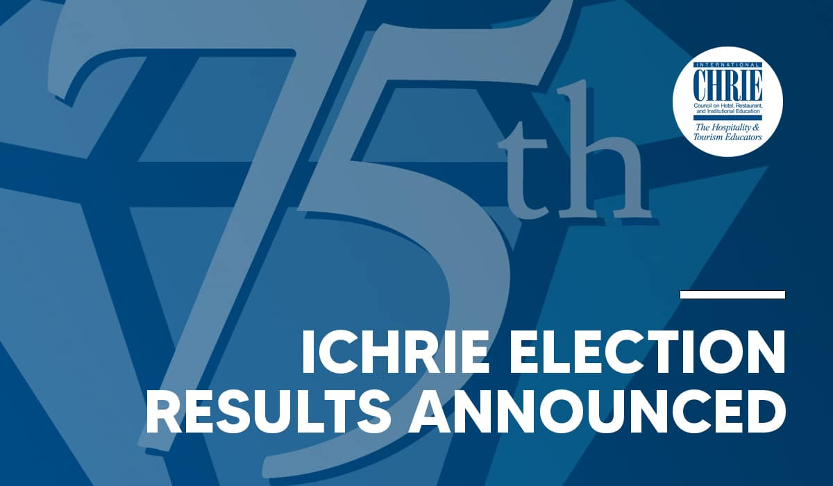 Newly Elected Board Members of International CHRIE Announced 33