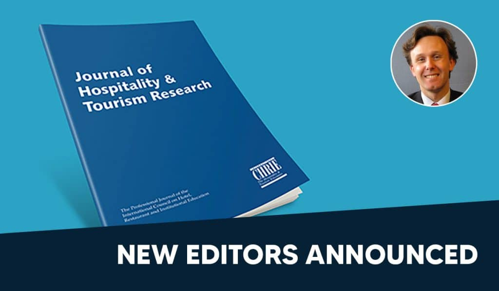 New Editors for Journal of Hospitality and Tourism Research (JTHR) 37