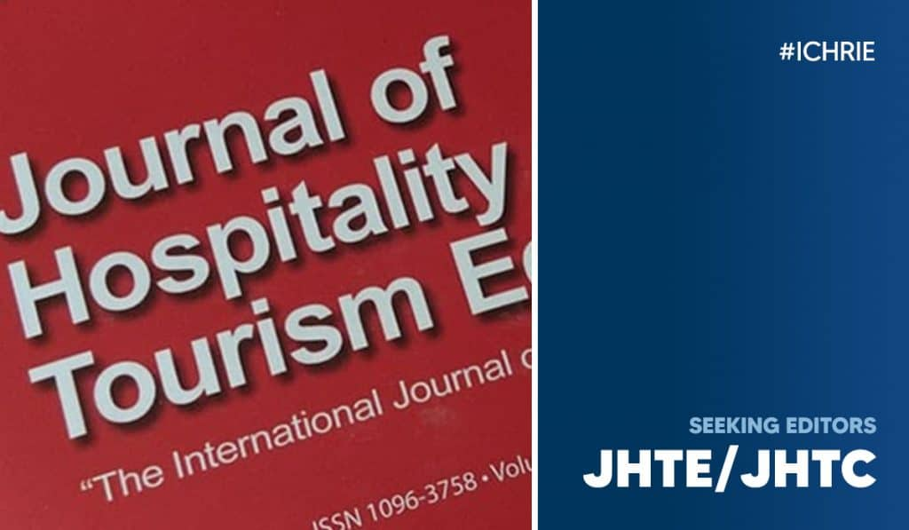 International CHRIE is seeking Editors for the JHTC & JHTE 37
